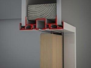 Slimline Architrave Header Track Timber